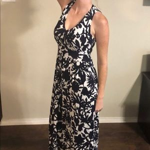Milly white and darkest navy long dress size small